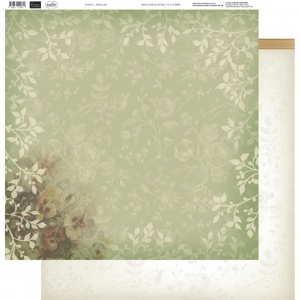 Couture Creations - 12 x 12 Paper (5 sheets) - Green Lace
