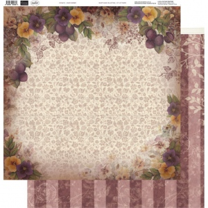 Couture Creations - 12 x 12 Paper (5 sheets) - Pansy Border