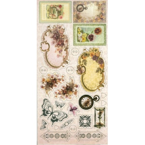 Couture Creations Hearts Ease Adhesive Chipboard