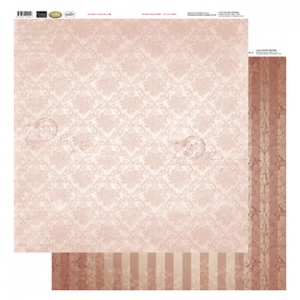 12x12 Patterned Paper - Bunch In A Line - Vintage Rose Collection (5)