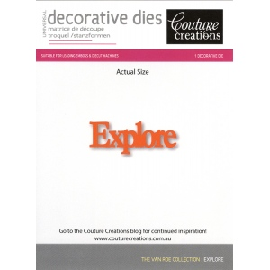 Couture Creations Die - Explore