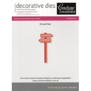 Couture Creations Die - Sign Post