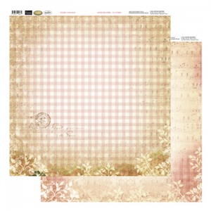 Couture Creations 12X12 Patterned Paper  - Plaid & Music - Vintage Rose Collection (5)