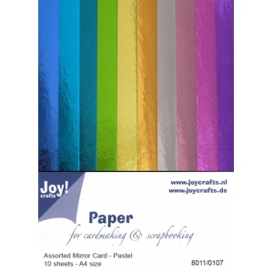 Mirror Cardstock - 10 pcs Assorted Pastel
