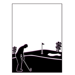 Ecstasy Crafts Embossing Folder - Golfing Day Size 5 X 7