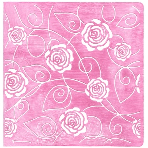 EC Embossing Folder - Small Roses