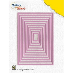 Nellie's Choice Multi Frame Dies - Straight Rectangle