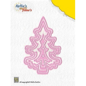 Nellie's Choice Multi Frame Dies - Christmas Tree (set Of 5)
