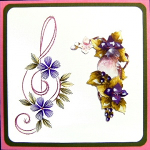 KC Embroidery Pattern - Music Treble Clef