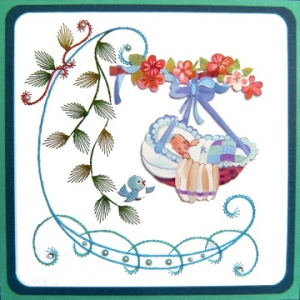 KC Embroidery Pattern - L Shape Flourish