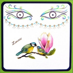 KC Embroidery Pattern - Masquerade Mask