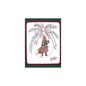 Karin's Creations Embroidery Patterns Kc Embroidery Pattern - Christmas Bow