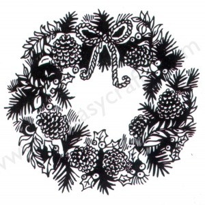 "Clear stamps Christmas-time serie ""Wreath"""
