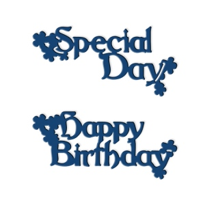 Tattered Lace Die - Interlocking Die Happy Birthday & Special Day