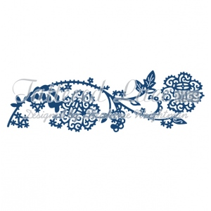 Tattered Lace Die - Paradise Border