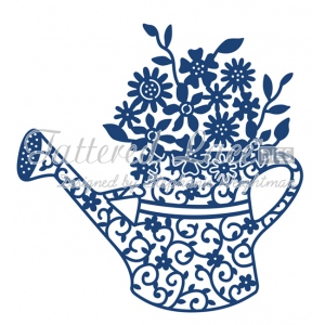 Tattered Lace Die Floral Watering Can