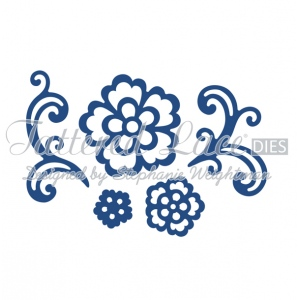Tattered Lace Die - Floral Flourish & Lace Rose 5 pc