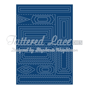 Tattered Lace Shaped Cards By  - Side Stepper Card