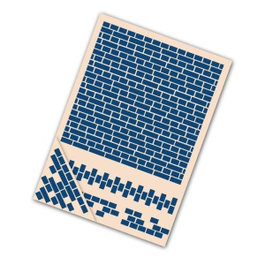 Tattered Lace Embossing Folder Set - Brickwork