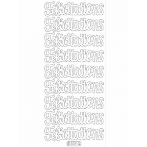 Deco Stickers - Felicitations: Silver