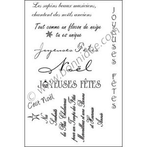 Fr. Xmas Greetings #1 Acrylic Stamps