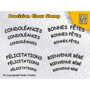 Nellie's Choice Precision Clear Stamps - French 2
