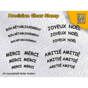 Precision Clear Stamps - French 1