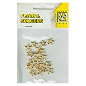 Spacers - Metal Floral (Gold)