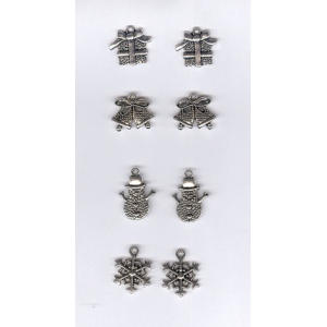 Nellie's Choice Card Charms - Christmas