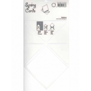 Spring Card Folding Template Medium
