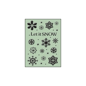 Ecstasy Crafts Embossing Folder - Let It Snow (hsfc002)