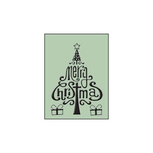 Ecstasy Crafts Embossing Folder - Merry Christmas (hsfc001)