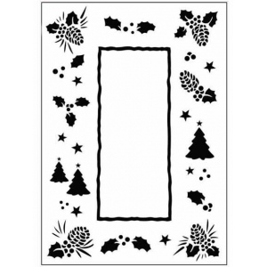 Ecstasy Crafts Embossing Folder Christmas Trees