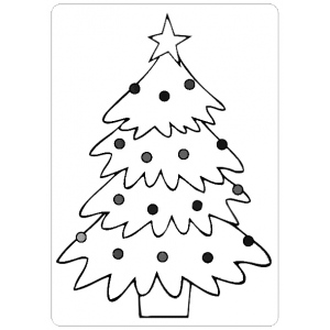 Ecstasy Crafts Embossing Folder - Christmas Tree