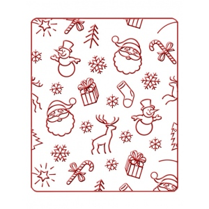Embossing Folder - Christmas Background