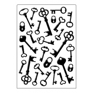 Embossing Folder - Keys and Locks