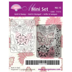Pergamano Multi Set Grid And Stamp - Butterflies