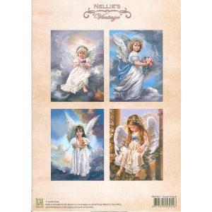 Nellie's Choice Vintage Prints Coloured - Sweet Angels