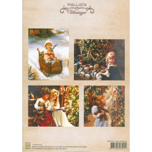 Nellie's Choice Vintage Prints Coloured - Cozy Christmas