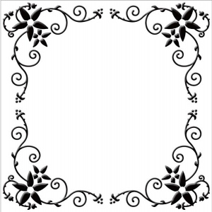 Nellie's Choice Embossing Folder - Flower Frame (square)