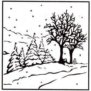 Nellie's Choice Picture Embossing Folder - Winter Landscape