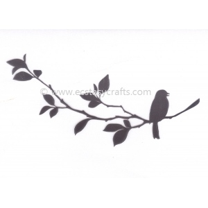 Nellie's Choice Silhouette Clear Stamp - Birdsong 1