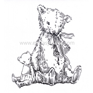 Clear Stamp - Baby Cuddles - Teddy Bears