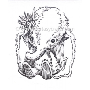 Clear Stamp - Baby Cuddles - Baby Elephant
