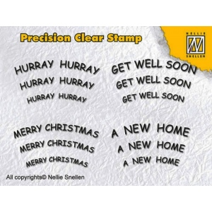 Precision clear stamps - English text 1