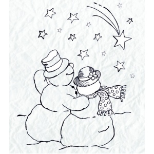 Nellie's Choice Clear Stamp - Snowmen Series - Shooting Star
