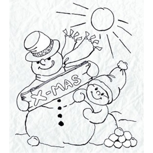 Clear Stamp - Snowmen Series - Snowy Christmas Wishes