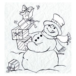 Clear Stamp - Snowmen Series - Lots of Presents