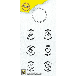 Nellie's Choice Circle Clear Stamp English Text - Baby