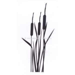 Silhouette Clear Stamp - Bulrushes